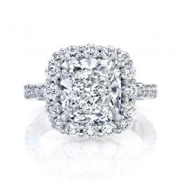 Cushion Cut Diamond Halo Diamond Ring